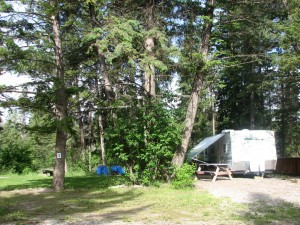 RV Campsite in shaded area