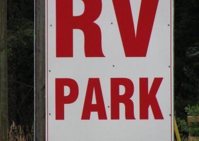 Our RV Park Sign